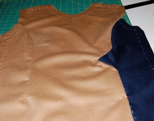 The front, showing the seam detail which I like so much.