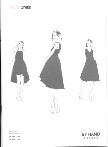 Aspects of this pattern remind me of classic Balenciaga.  I'll have to make the skirt longer, however...