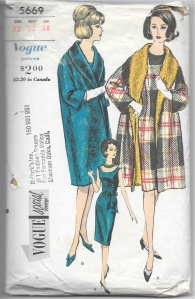 I love both the coat and the dress (with two variations) featured in this pattern.
