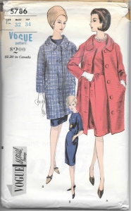 I love the knee length coat, although I may substitute another pattern for the coordinating dress.