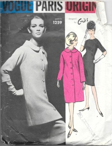 Or I may decide to use this Madame Gres design fopr a coat and dress.  The coat has very unusual darts along the side, which you may be able to see here.