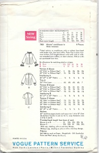 Blouse pattern - PP collar - rear views