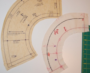 And here is the right collar section.