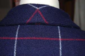 Here is the seam at the back upper collar.
