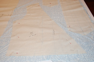 Showing a partial lay-out