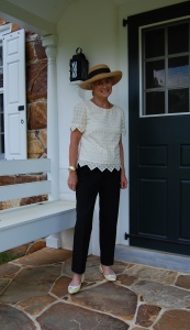 I could not resist styling this blouse with a hat!