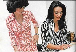 Here is the editor-in-chief of Vogue Pattern Magazine, Judy Espinar, with Diane von Furstenberg.