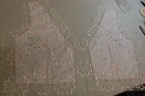 The back of the over bodice