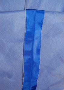 Blue taffeta skirt