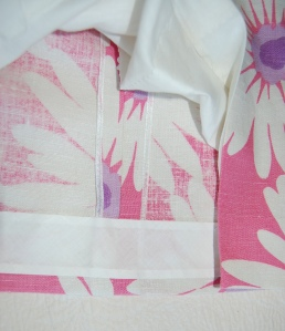 The faced hem, plus a view of the seams which I finished with Hug Snug seam binding.