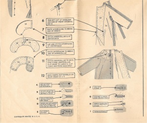 I love how these vintage Vogue patterns give such precise instructions; there are various ways to make bound buttonholes, but the method described here is my favorite.