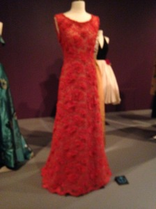 A detail of the bodice of this gown is featured on the cover of the Exhibit catalogue, shown further down in this post.