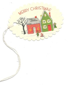 From my house to your house, Merry Christmas! (Cavallini & Co. vintage-inspired tag)