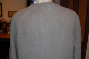 A view of the back of the coat (in progress.)