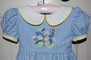 And a close-up look at what makes this little dress so endearing, besides the little person who will wear it!