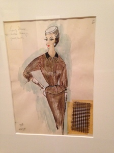 So many of the illustrations were of dressmaker suits. This one is made in brown checked wool.