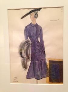 Duskin sketch - purple dress