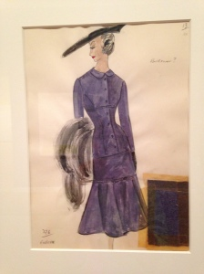Duskin sketch - purple dress