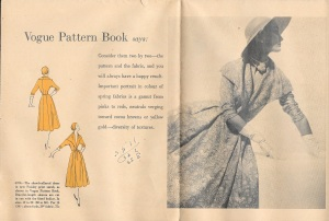 """Consider them two by two - the pattern and the fabric, and you will always have a happy result."" Timeless advice!"