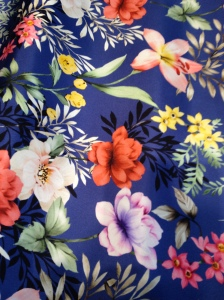 The photo does not give this silk its due. The colors are deep and clean.