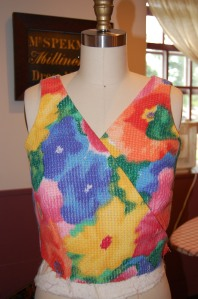 Now I wish i had left the bodice just as you see it here!