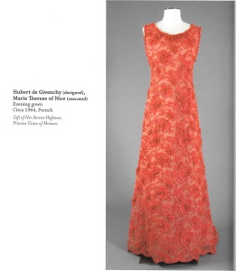 MET - coral dress, Princess Grace copy