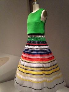 Met - Dior pleated dress copy