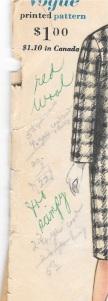 Taffeta coat - pencil notes